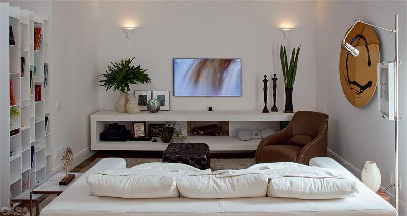 Ambientes Sala De Tv Pequena ~ Conheça 15 Modelos de Decoração para Sala de TV Pequena para você