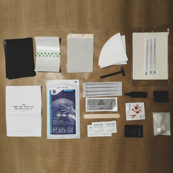 Photo of Hand Poke Tattoo Kit · Practice Kit · Vegan and Cruelty Free – Homemade Tattoo 2020