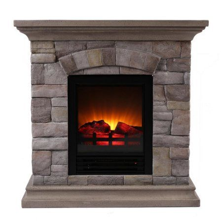 OK Lighting Portable Electric Fireplace | Electric fireplaces ...