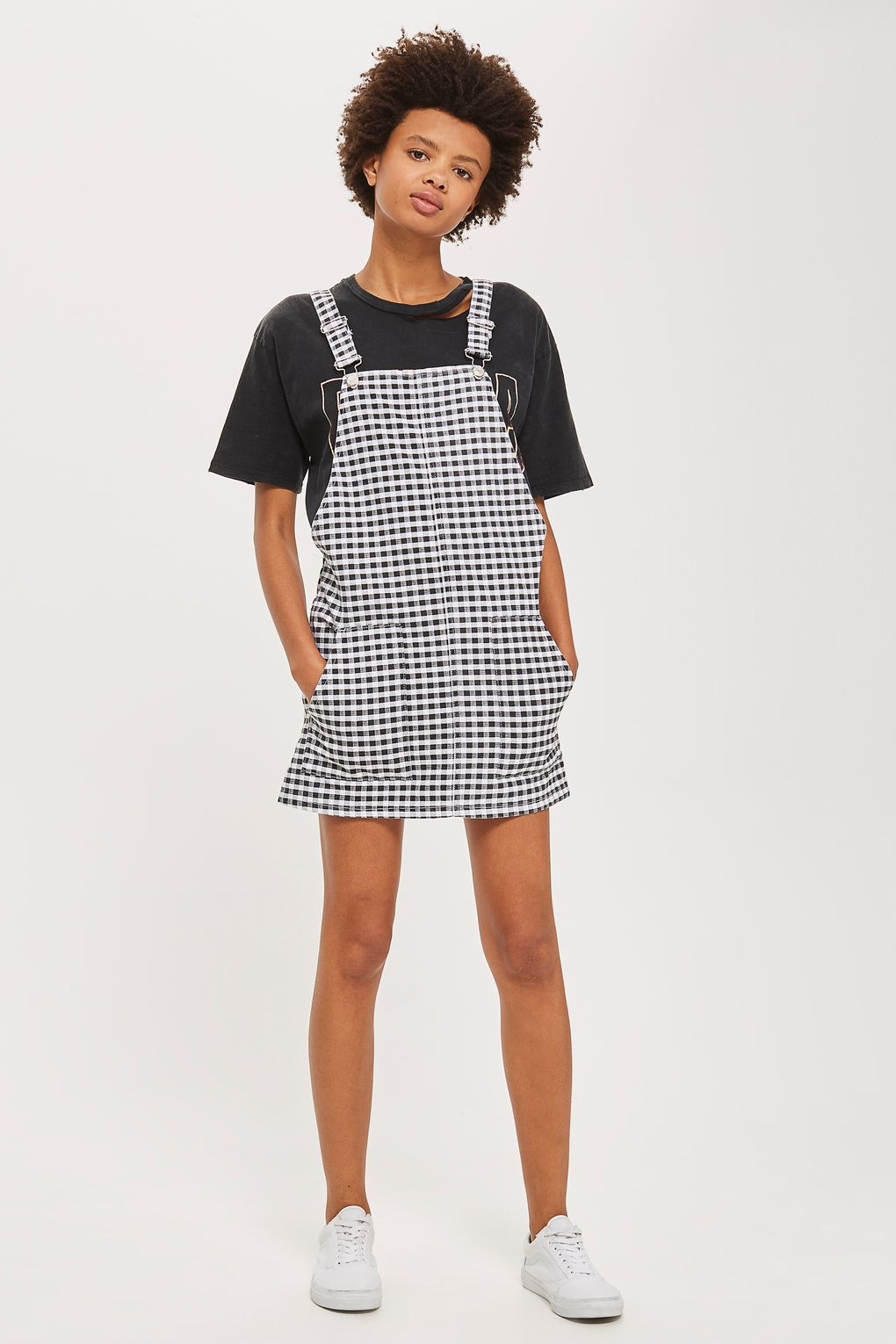 fc41516f45b0 MOTO Gingham Pinafore Dress - New In Fashion - New In | Dresses ...