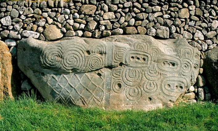 Newgrange's stunning kerbstone 52. Boyne valley art drew the sacred out from the tomb chambers into the open air.