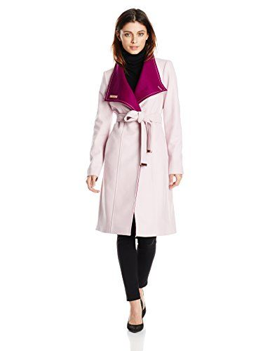 Ted Baker Women's Lorah Wrap Metal Bar-Clasp Coat ** You can find more details by visiting the image link.