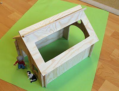 holz bauernhof playmobil bauen vorlage zum auss gen. Black Bedroom Furniture Sets. Home Design Ideas