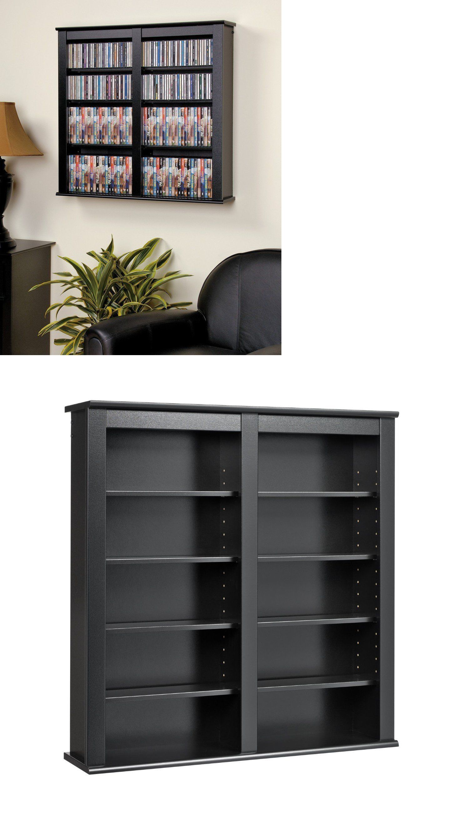 Cd And Video Racks 22653 Black Media Storage Cabinet Wall Hanging Shelf Rack 32 Dvd Display Organizer It Now Only 113 95 On Ebay