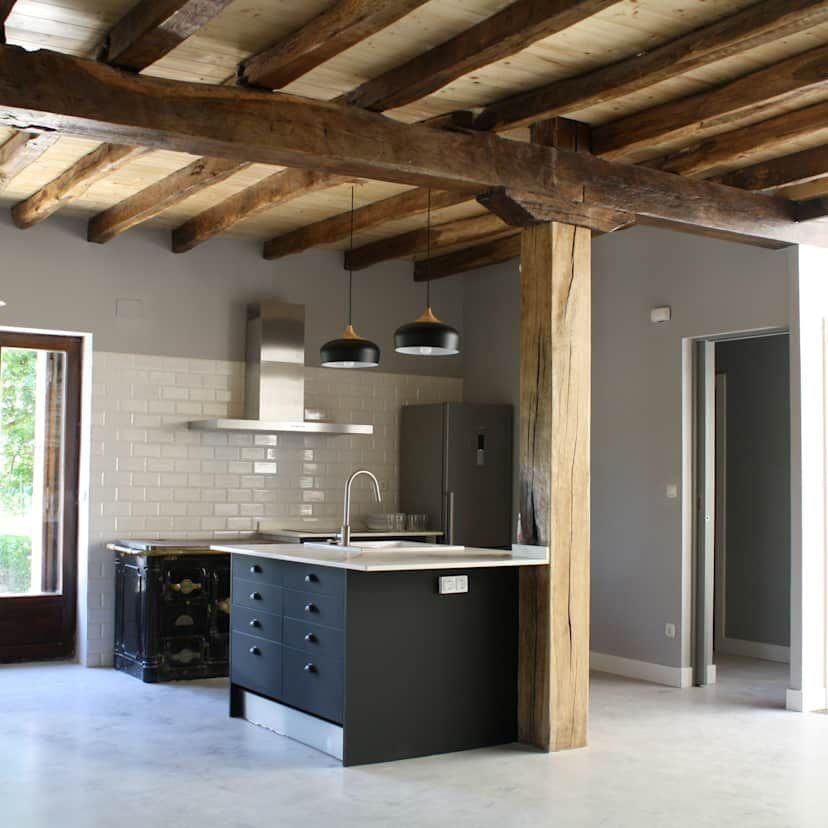 Holzbalken an der Decke 10 sensationelle Ideen Küchen