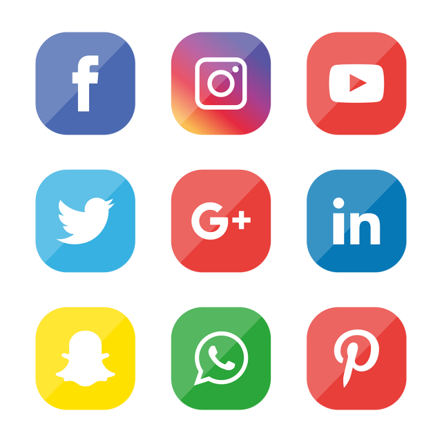 Social Media Icons Set Logo Vector Illustrator Vector And Png Social Media Icons Media Icon Social Icons