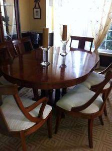 Ethan Allen Medallion Dining Room Set Pedastal Table 6 Splatback