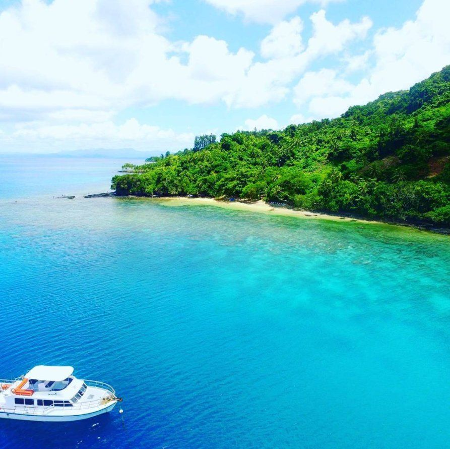 Paradise Beach Fiji is surrounded by a