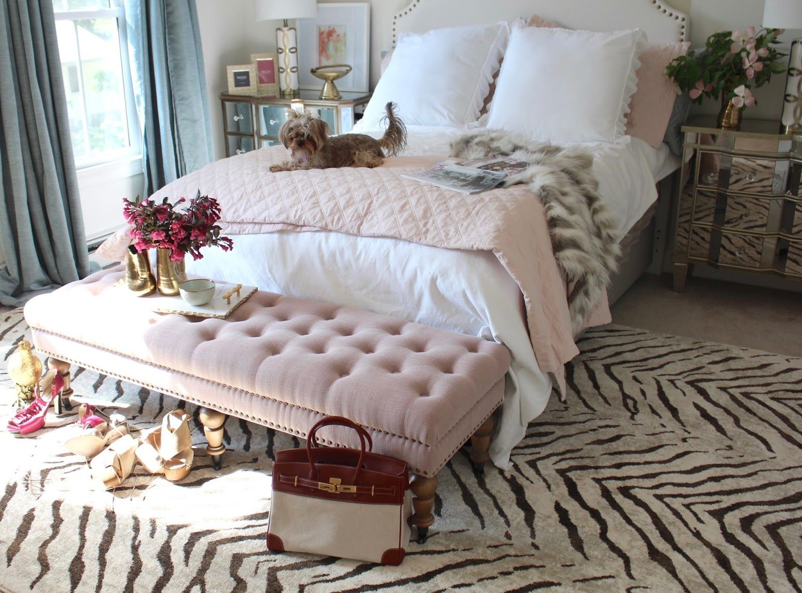 South Shore Decorating Blog Room Reveal Pink And Gold Feminine In