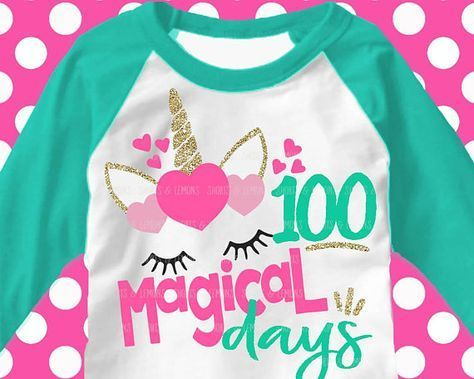 100 days svg, 100th day of school svg, unicorn svg, 100 magical days svg, school, 100 days, SVG, DXF, EPS, 100 days shirt, girls svg, cutter