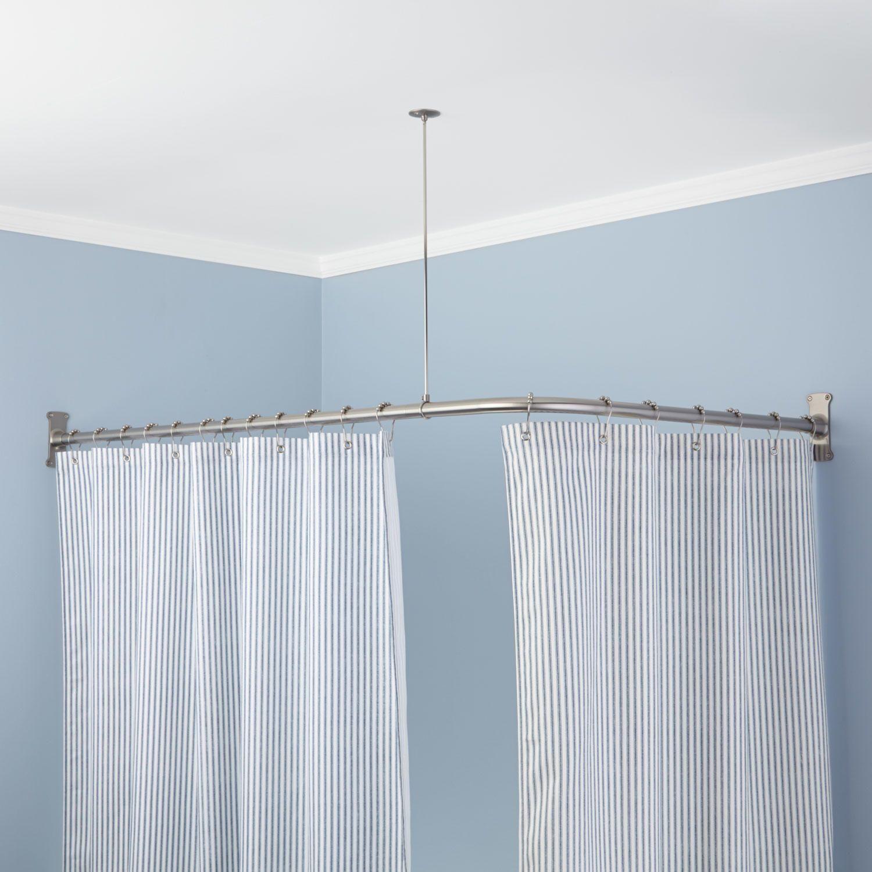 Corner Shower Curtain Rod Round Shower Curtain Rod Corner