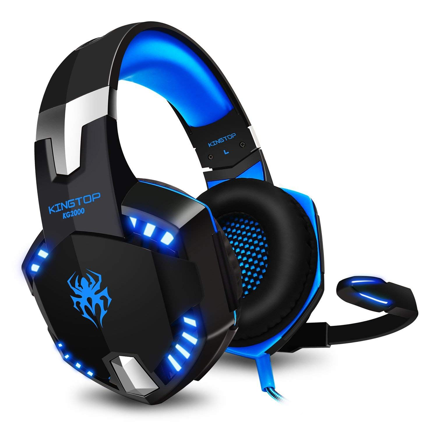 Casque Gaming Ps4 Kingtop Kg2000 Ecouteur Gamer Filaire Avec Micro Basse Stereo Led Lumiere Controle Du Volume Pour Playsta Nintendo Switch Gaming Headset Xbox