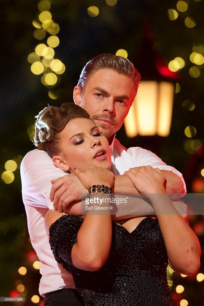Bindi Irwin and Derek Hough share a moment at ABC's 'Dancing With The Stars' Live Finale Event at The Grove on November 24, 2015 in Los Angeles, California.