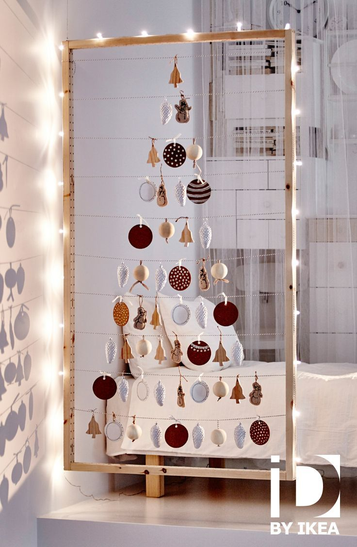 Kerstversiering aan één enkel draadje. Decoratie VINTER #IKEABE #IKEAidee: