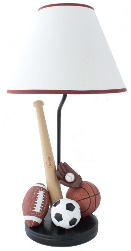 Baseball Basketball Football And Soccer Sports Lamp Kids Table Lamp Lights Fantastic Childrens Lamps