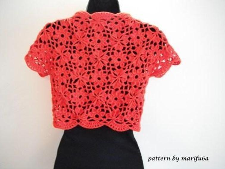 Crochetflower Bolero Shrug Pattern Nr 15 Veste I Jachete