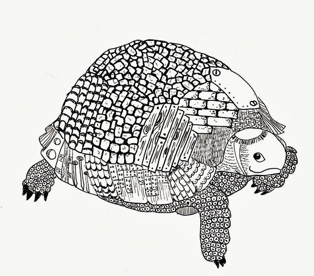 Efie Goes Zentangle Schildpad Van Ben Kwok Schildpad Dieren Dieren Kleurplaten