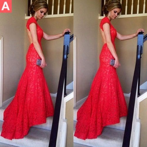 Red lace prom dresses tumblr 2018