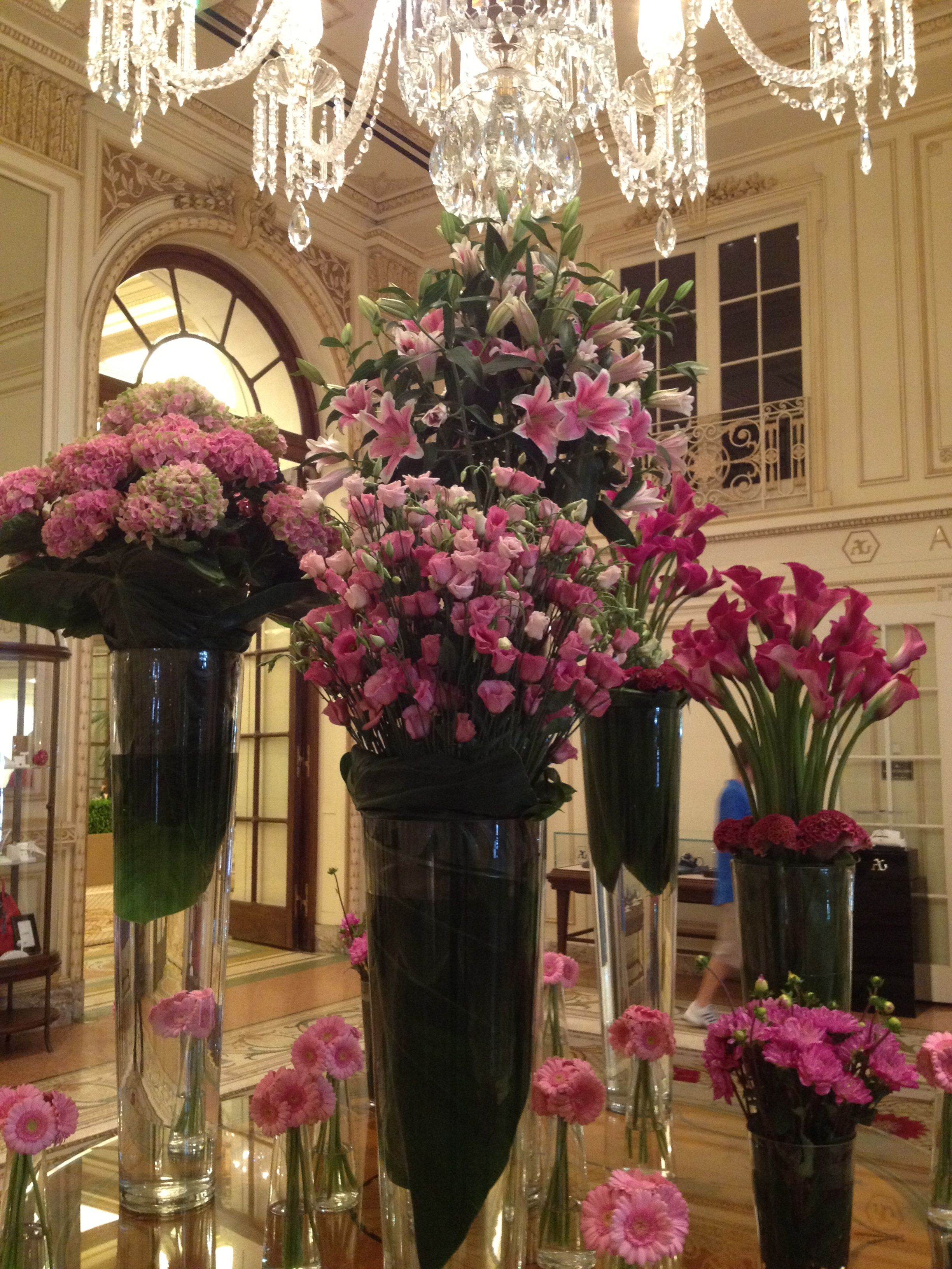 These flowers smelled so lovely. The Plaza Hotel, NYC