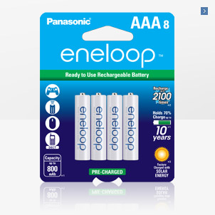 Panasonic Eneloop Aaa 2100 Cycle Ni Mh Pre Charged Rechargeable Batteries 8 Pack Bk 4mcca8ba Rechargeable Batteries Panasonic Sanyo
