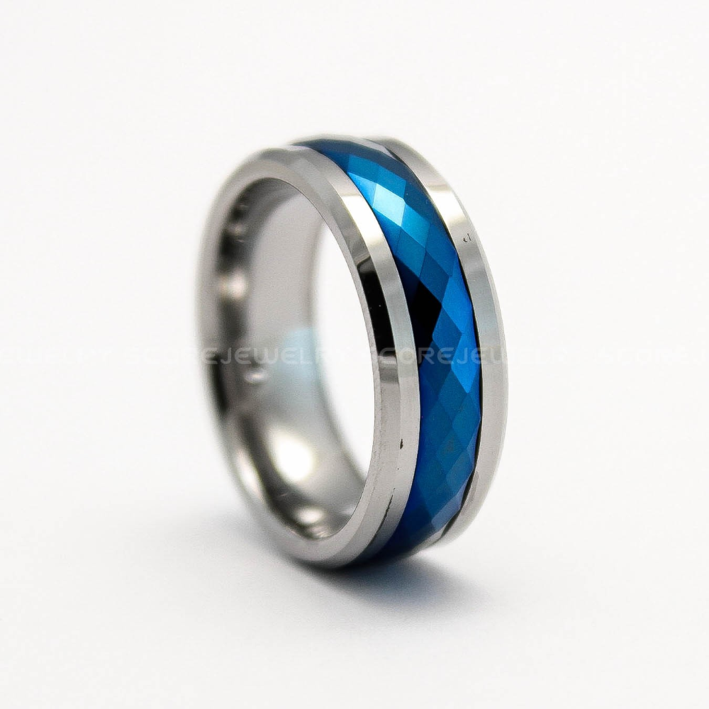 True Blue Titanium Dual Blue Bands Beautifully Crafted Blue