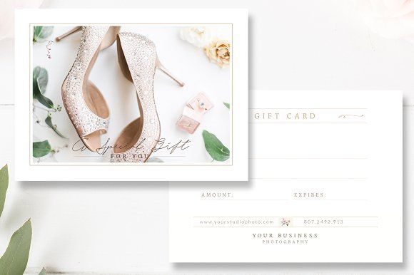 Photographer Gift Card Template By By Stephanie Design On