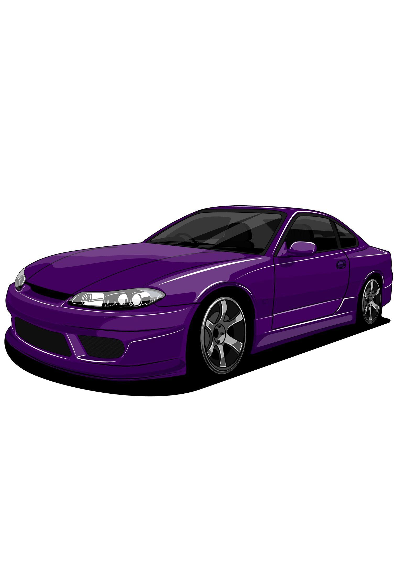 nissan silvia s15 #vector #art #draw #nissan #jdm #japan #silvia  #illustrator #illustration #carvector #illustration   nissan silvia, car  vector, car illustration  pinterest