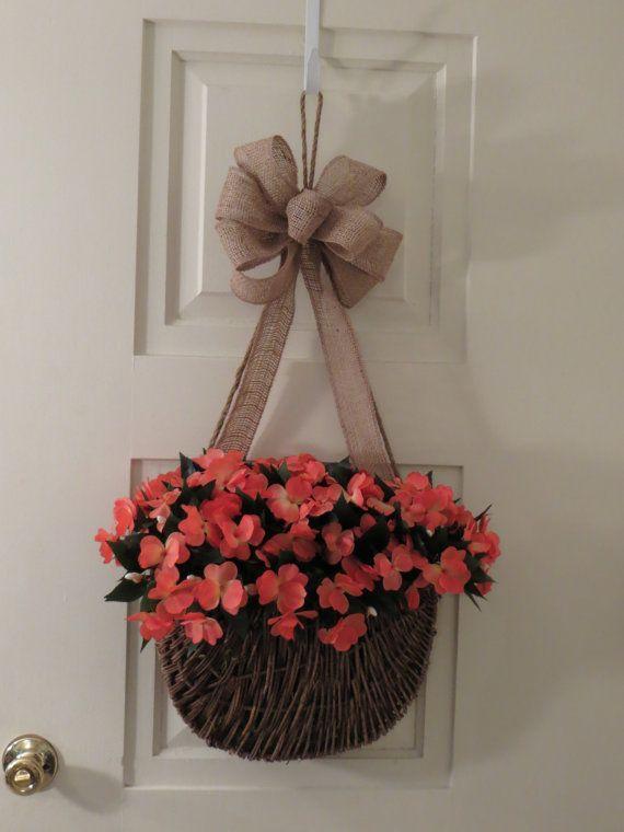 SALE - Spring/Summer Wreath Sale Basket Wreaths Door Baskets Coral Home & SALE - Spring/Summer Wreath Sale Basket Wreaths Door Baskets ...