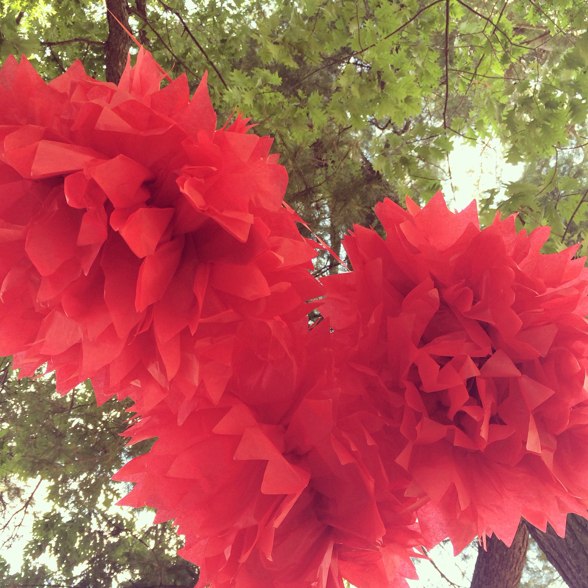 Paper flowers instead of balloons