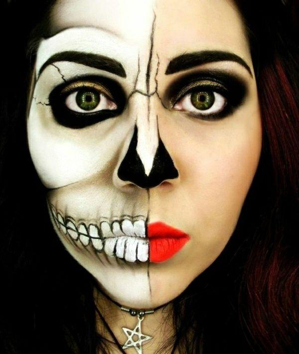 le tuto du maquillage de halloween artistique maquillage de halloween le maquillage et halloween. Black Bedroom Furniture Sets. Home Design Ideas