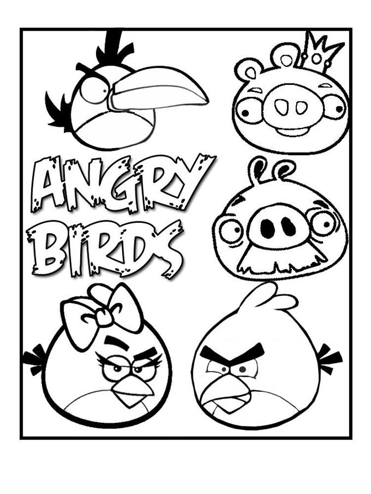 Angry Bird Coloring Page Pdf Angry Birds Is A Video Game That Was Initially Available For Ipad And Ipho Bird Coloring Pages Coloring Books Cool Coloring Pages