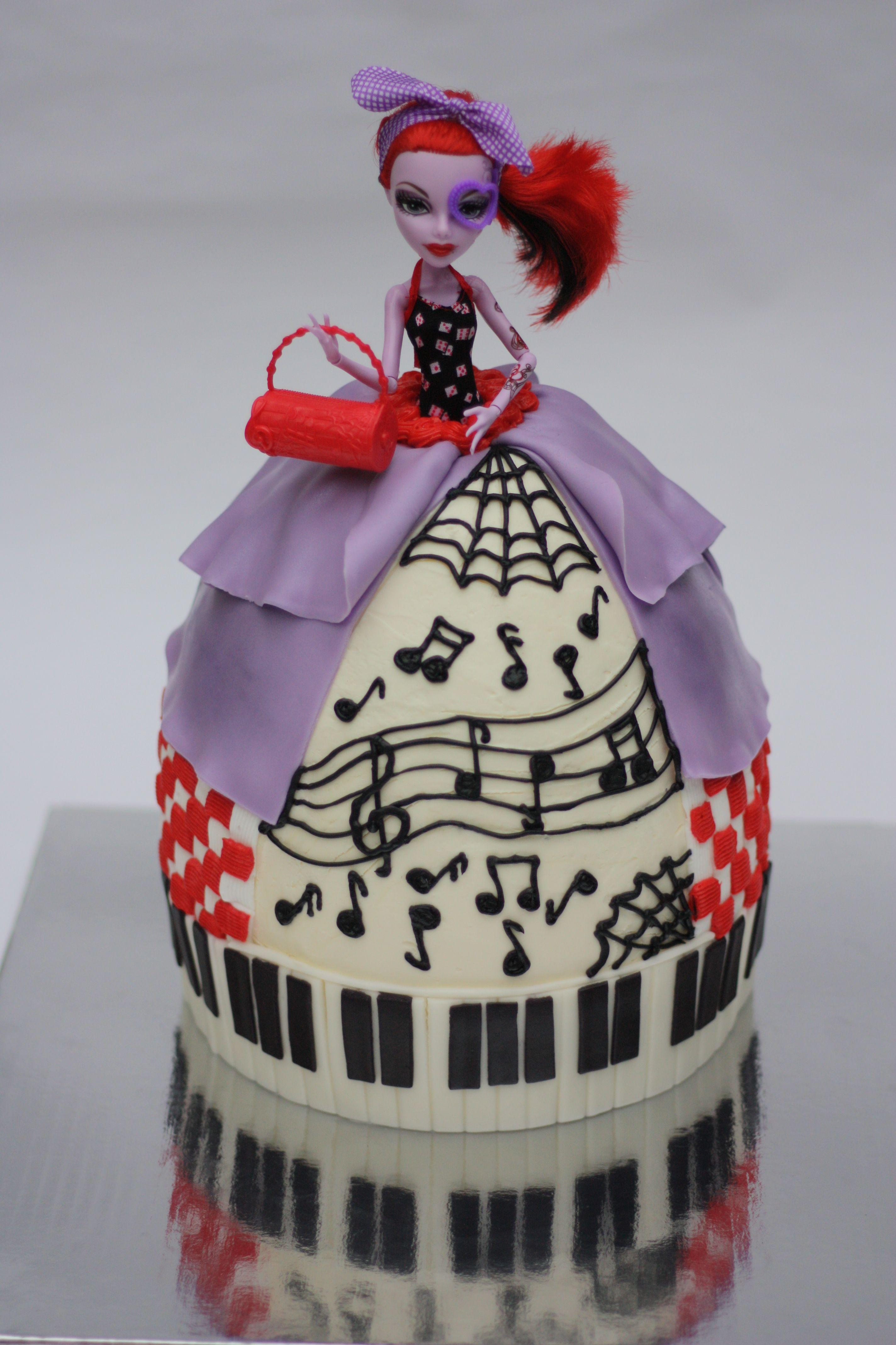 Monster High Doll Cake Operettta Monster High Cakes
