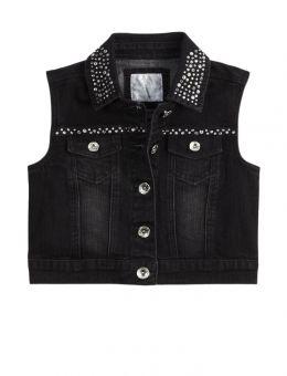 ab732abe15 Embellished Denim Vest. Embellished Denim Vest Cute Jean Jackets