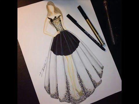 تصميم أزياء للفنانة ميساء عاشور فيديو طفرة جوز Dress Sketches Fashion Illustration Fashion Sketchbook