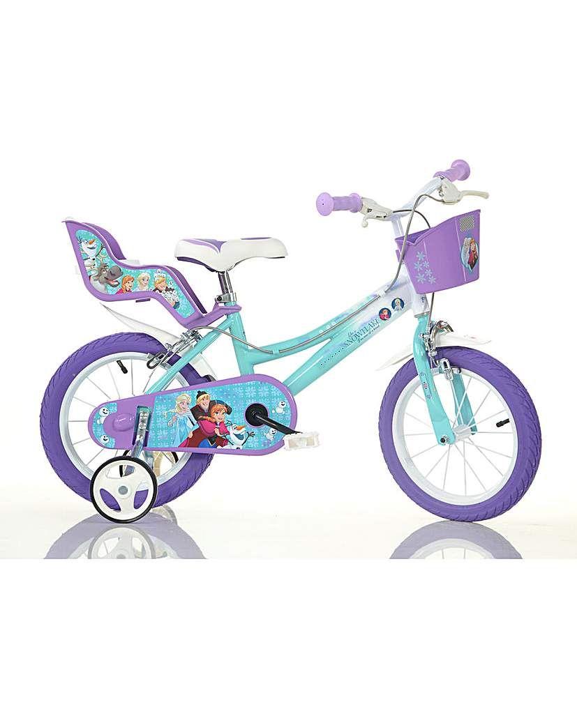Eiskönigin Fahrrad 14 Zoll Kinderfahrrad Kinderrad Rad Disney Frozen 2 Anna Elsa