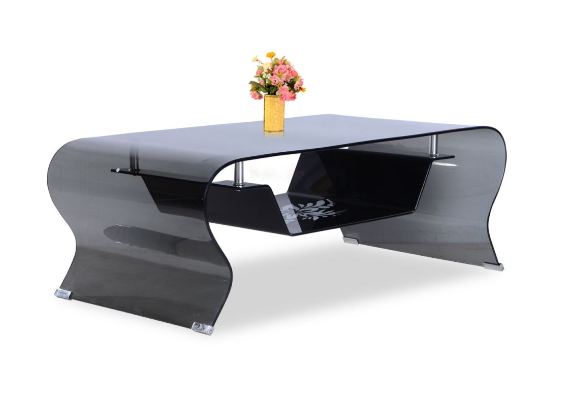 Zee Black Gl Coffee Table From Durian Is Made Curved