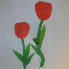 Tulpen f rs fenster fensterdekoration basteln tulpen basteln und basteln fr hling - Basteln fruhling fenster ...