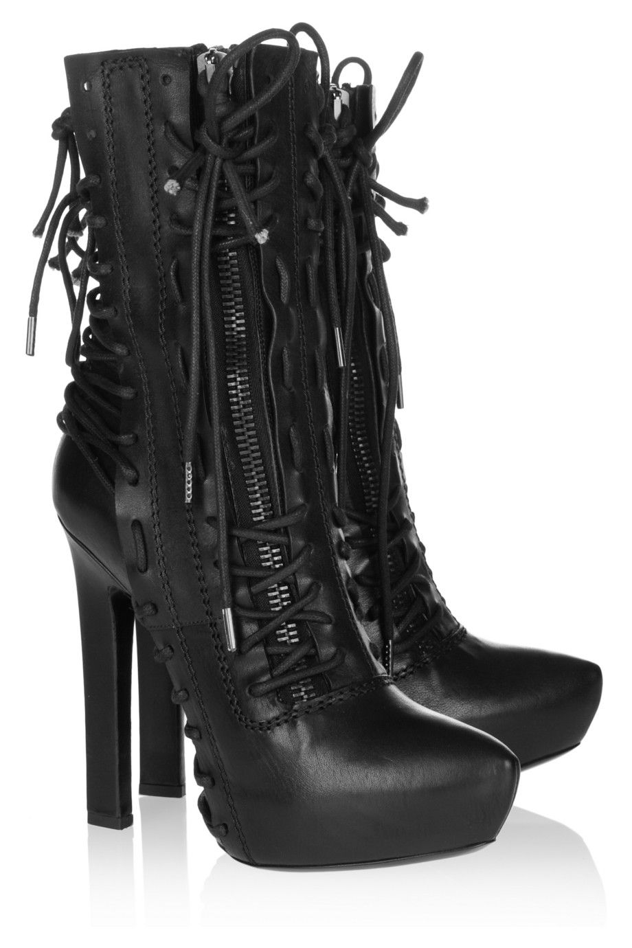 Haider Ackermann - Lace-up leather ankle boots