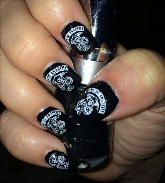 17 SONS OF ANARCHY Nail Decals Motorcycle Nail by NorthofSalem ...