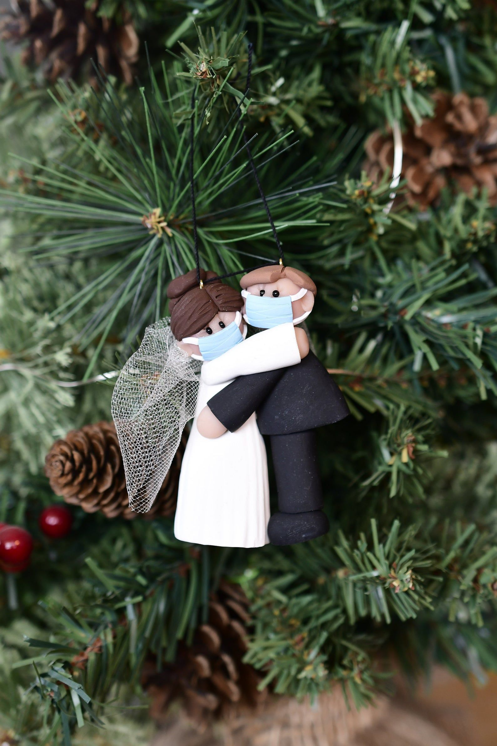 Bride and Groom with mask Etsy in 2020 Groom, Bride