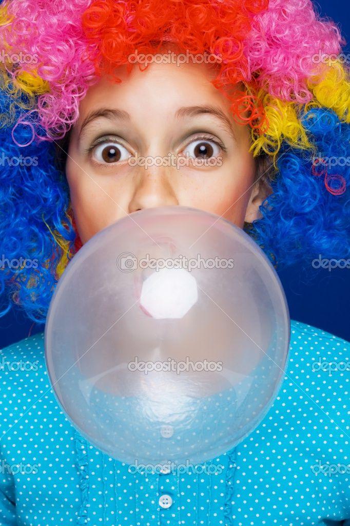 Sorry, that blowing bubble fetish gum woman