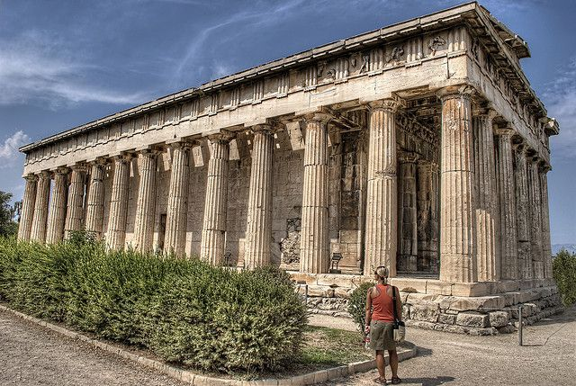 Greece Channel Temple Of Hephaistos In The Ancient Agora Of