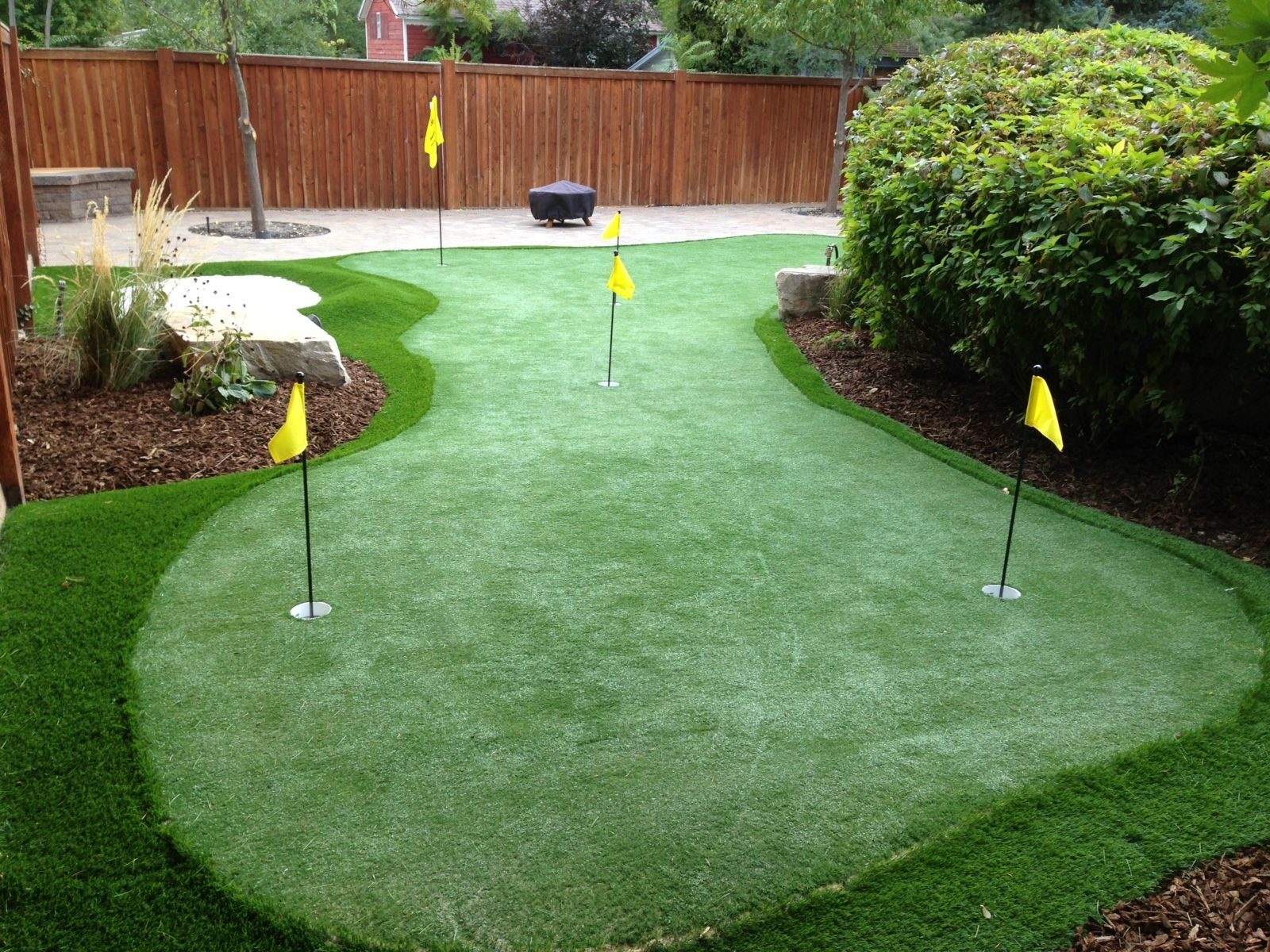Backyard Golf Green   Backyard, Landscaping inspiration ...
