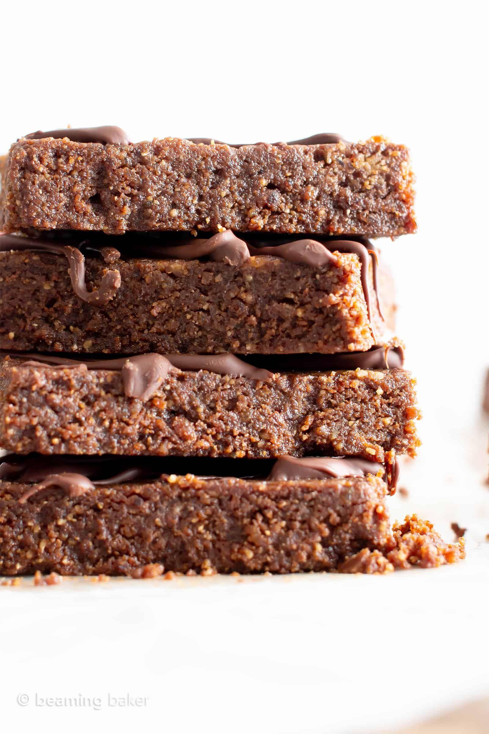 5 Ingredient Raw Vegan Brownies No Bake Gf This No Bake