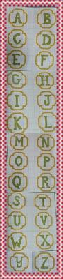 Gráfico do Alfabeto para Crochê