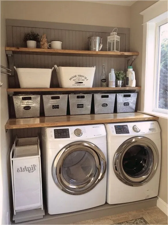 35 Modern Laundry Room Ideas For Decorating Small And Large Spaces 34 Rustic Laundry Rooms Laundry Room Layouts Modern Laundry Rooms