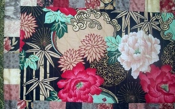 Quilted Table Runner linens by CraftsbyKristinaL on Etsy, $100.00
