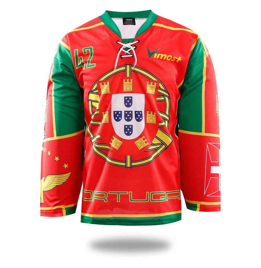 ffe9eb2559c Sublimated Portugal Ice Hockey Jersey