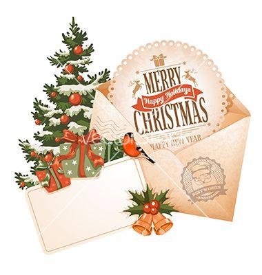Christmas Envelope Vector Art Download Vectors 3066412 Xmas Greeting Cards Vintage Christmas Cards Christmas Envelopes