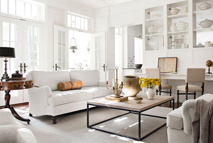woonkamer inrichten modern chique makeover interior white